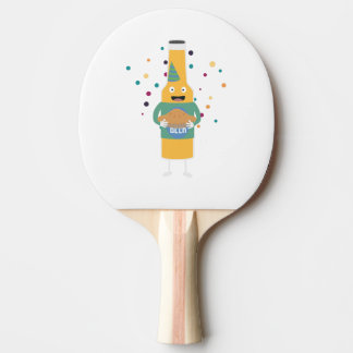 Party Beer Bottler with Cake Z4zzo Ping Pong Paddle