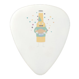 Party Beer Bottler with Cake Z4zzo Polycarbonate Guitar Pick