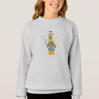 Party Beer Bottler with Cake Z4zzo Sweatshirt