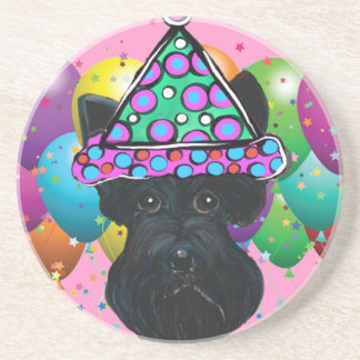 Party Black Scottish Terrier Coaster