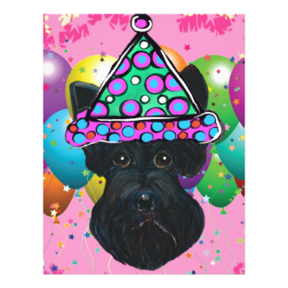 Party Black Scottish Terrier Letterhead