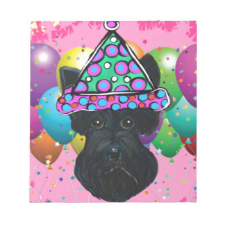 Party Black Scottish Terrier Notepad