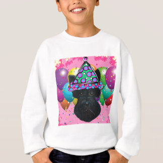 Party Black Scottish Terrier Sweatshirt