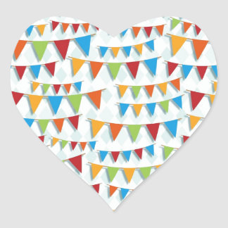 Party Bunting Heart Stickers