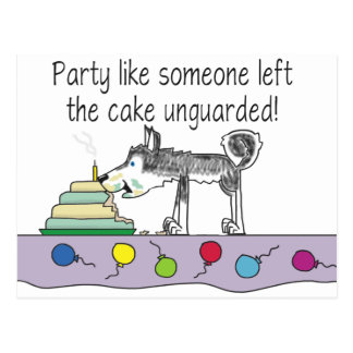 Party Cake Postcard