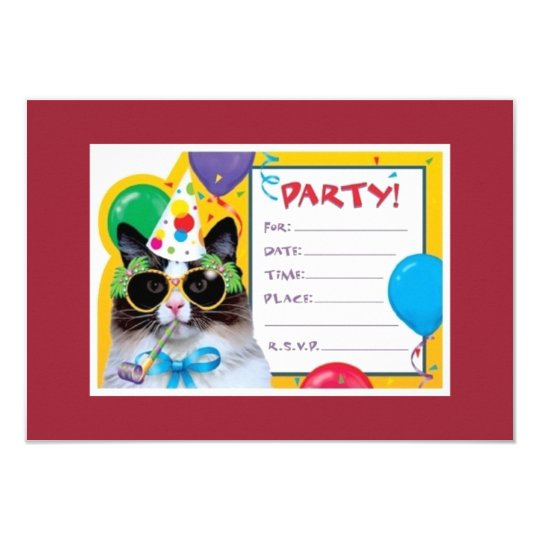 Party Cat is ready for your birthday! Card