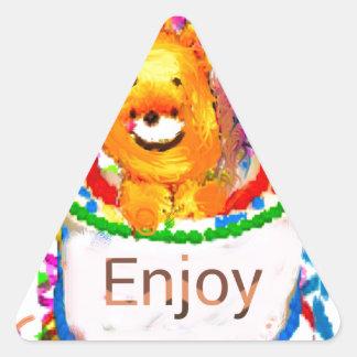 Party celebration triangle sticker