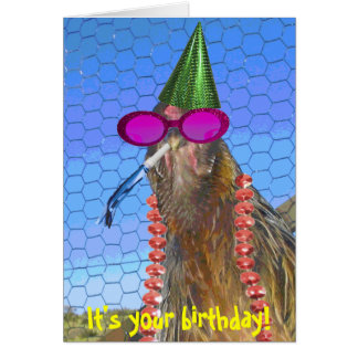 Party Chicken Card
