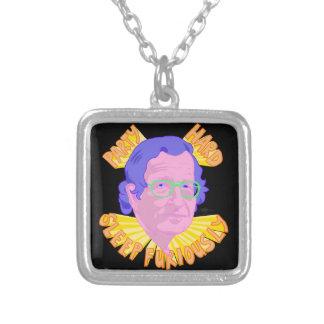 Party Chomsky Silver Plated Necklace