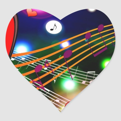 PARTY CLUB DISCO MUSIC FUN VECTORS KISSING backgro Heart Stickers