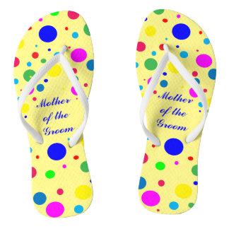 Party Colors Wedding Mother of Groom Flip Flops