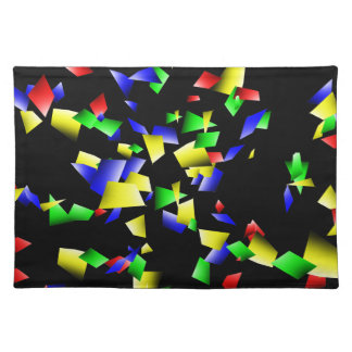 Party Confetti - Black Background Placemat