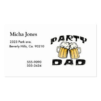 Party Dad Business Card