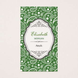 Party DJ - Retro Paisley Pattern Business Card