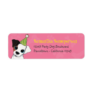 Party Dog Jack Russell Illustration