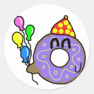 Party Doughnut Round Sticker