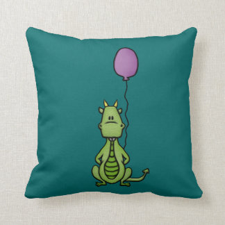 Party Dragon Throw Pillow