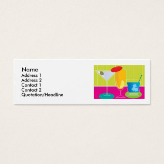 Party Drinks Mini Business Card