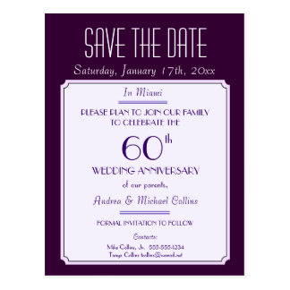 Party, Event or Reunion Save the Date in Plum Postcard