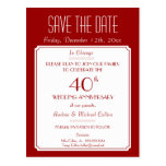 Party, Event or Reunion Save the Date in Red Postcard