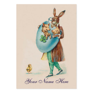 Party/Event Planner Vintage Rabbit Easter Card Large Business Card