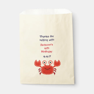 Party Favor Bags in Nautical Theme- Birthday Bags