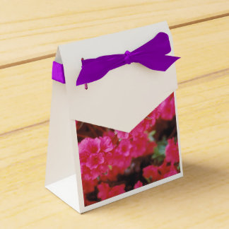 Party Favour Bag with Bright Pink Azaleas Favor Box