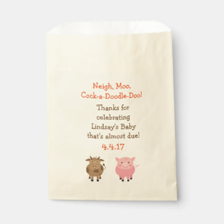 Party Favour Bags with Farm Animals - Baby Shower