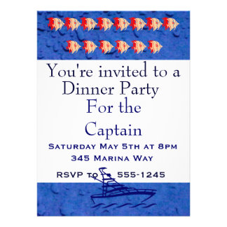 Party for the Captain Custom Invitation