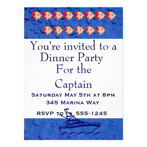 Party for the Captain Invitation