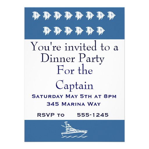 Party for the Captain Personalized Announcements