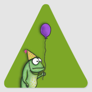 Party Frog Triangle Sticker