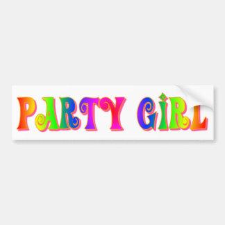 Party Girl Bumper Sticker