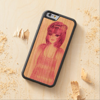 Party Girl Flapper in Hot Pink Carved Cherry iPhone 6 Bumper Case