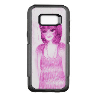 Party Girl Flapper in Hot Pink OtterBox Commuter Samsung Galaxy S8+ Case