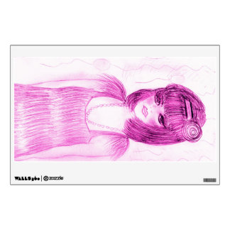 Party Girl Flapper in Hot Pink Wall Decal