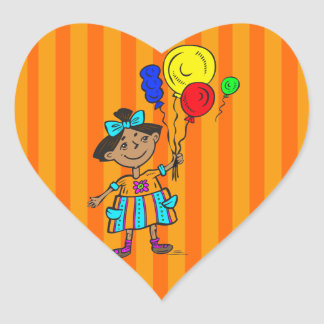 Party Girl Heart Sticker