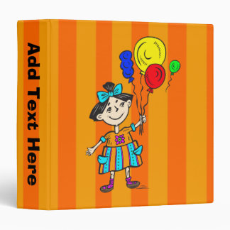 Party Girl With Balloons Binders