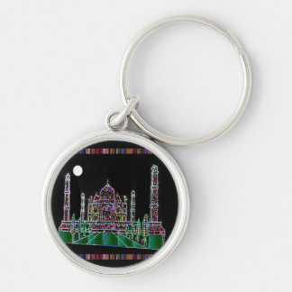 Party GIVEAWAY RETURN GIFTS: Taj Mahal Agra India Silver-Colored Round Keychain