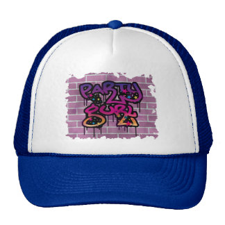 party gurl (girl) graffiti design trucker hat