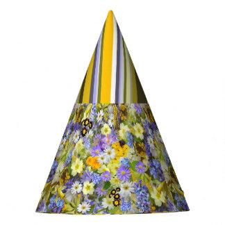 Party Hat Floral Stripes