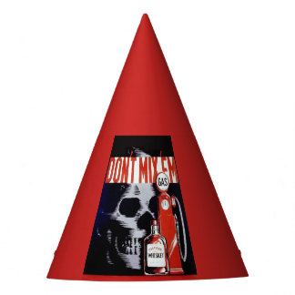 Party Hat Gas Whiskey Scull