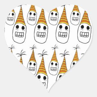 Party hat skulls heart sticker
