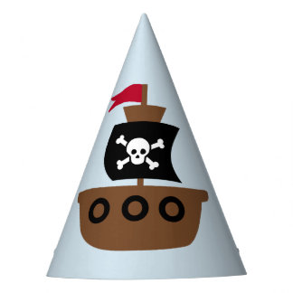 Party Hat with pirate ship