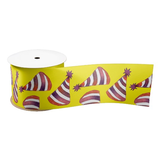 Party Hats Satin Ribbon