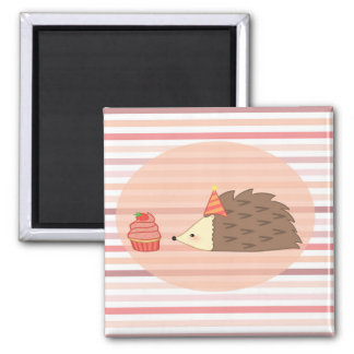 Party Hedgehog and Cupcake Magnet
