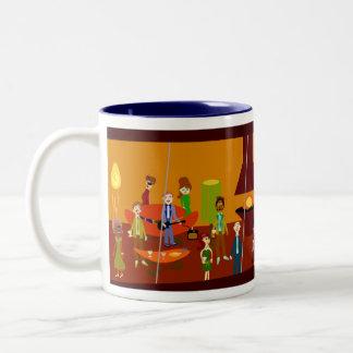 Party House Deluxe Mug! Two-Tone Coffee Mug