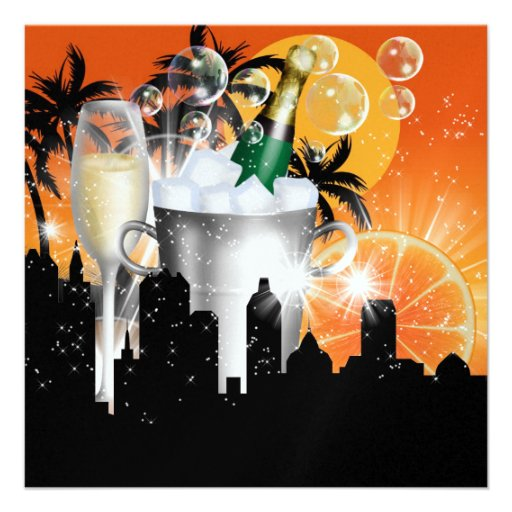 Party in Style Bright Lights - SRF Custom Invites