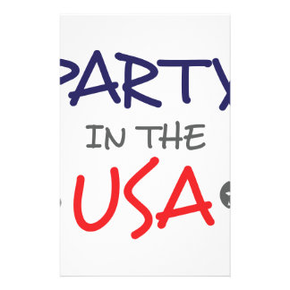 PARTY IN THE USA STATIONERY