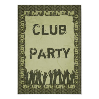 Party 5x7 Paper Invitation Card